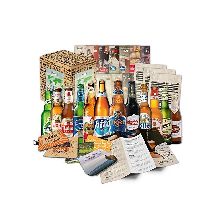 Biere der Welt (12 Flaschen) internationale Bier Spezialitäten zum verschenken - Beste Biere der Welt mit Geschenkkarton…