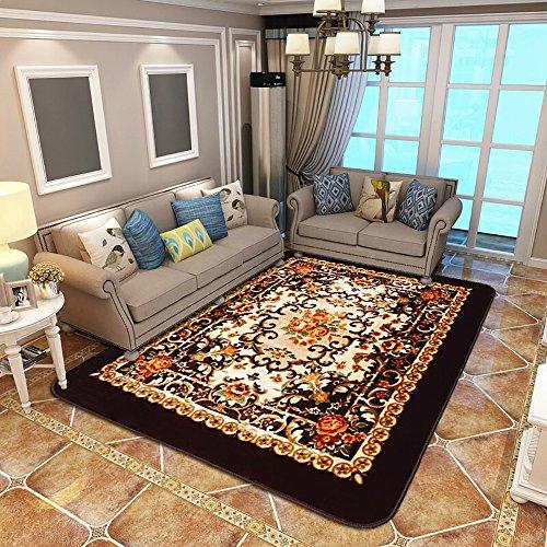 Everyday home- Teppich Rechteck Europäischen Classics Pflanze Blumenmuster Handwäsche Continental Couchtisch Teppich / Schlafzimmer Lange Kante Einfach zu Reinigen Antifouling Teppich ( Farbe : Bunte , größe : 200cm*300cm )