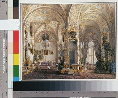 Das Museum Outlet–Hau, Edward Petrowitsch–Interiors der Winter Palace. Der Salon in...