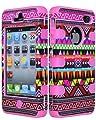 Bling Strass Glitzer Silikon Hülle Hüllen Silikon Schutzhülle Tasche Etui Protection Case Protective Cover für Iphone 4 /4G, 4S /4GS Aztec Tribal Rosa Pink(Farbe:Rosa Pink,Rot,Schwarz,Lila,Grün,Rosa Rot,Blau) von Atechport auf Lampenhans.de