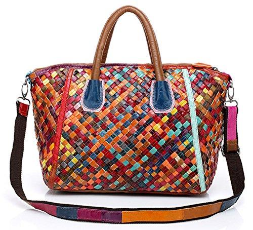 Keshi Leder neuer Stil Damen Handtaschen, Hobo-Bags, Schultertaschen, Beutel, Beuteltaschen, Trend-Bags, Velours, Veloursleder, Wildleder, Tasche Mehrfarbig