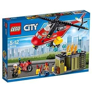 LEGO - 60108 - City - Jeu de construction  - L'unité de Secours des Pompiers