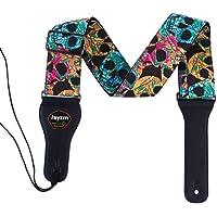 Rayzm Sangle en Coton pour Guitare Acoustique/électrique ou Basse,6.5cm de Large pour les Adultes (Trop Grand pour les…