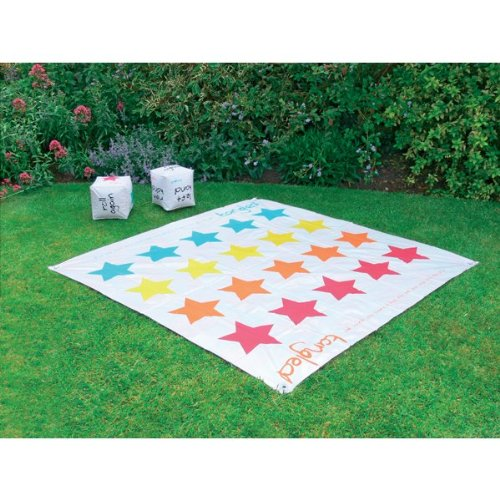 GARDEN TWISTER, SNAKES & LADDERS, GAME SET. INFLATABLE DICE. FUN FOR ALL. PARTY! by Kingfisher