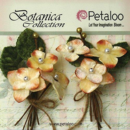 Petaloo Botanical Vintage Velvet Hortensie Picks (2Pack), 5,1x 10,2cm creme