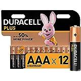 Duracell Plus AAA Alkaliska Batterier, Koppar/Svart, 12 st