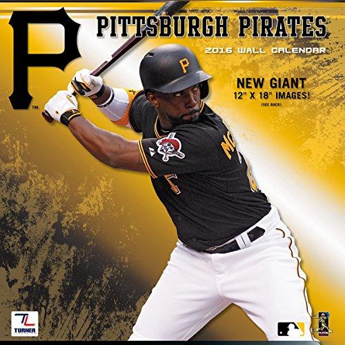 Turner Pittsburgh Pirates 2016Team Wand Kalender, September 2015-Dezember 2016, 30,5x 30,5cm (8011860) Pittsburgh Pirates-team-design