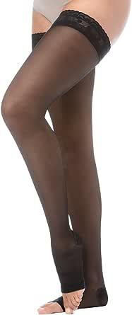 Relaxsan Basic 870A calze autoreggenti punta aperta 140 den compressive 18-22 mmHg