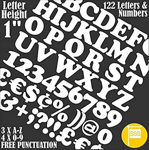 LETTERS & NUMBERS Pack of 122 pcs X 1