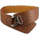 iShine Moda Donna Elastica Regolabile Cintura con Modello di Serpente