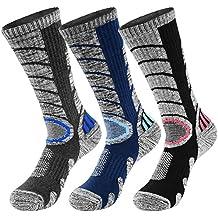 VBIGER 3 pares Calcetines de Invierno Térmico para Hombre Largo Algodón Calcetines de deportivos esquí senderismo