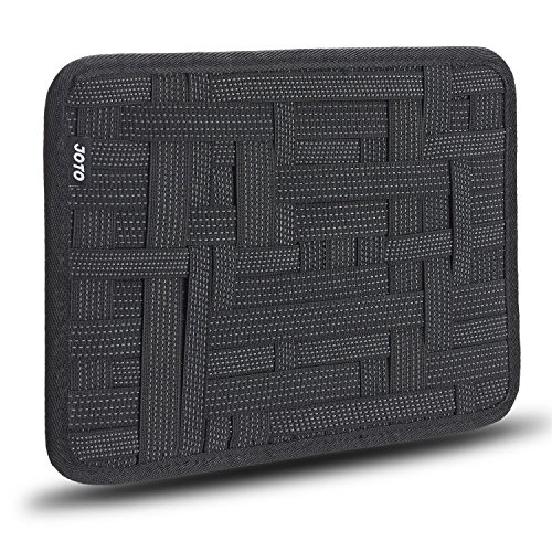 Elektronik Organizer, JOTO Travel Gear Management Organisieren Tasche für Elektronik Zubehör Werkzeuge Festplatte Speicherkarte Flash Drive Kabel Ladegerät Kosmetik Pinsel Personal Care Kit - Large (Schwarz) (Kit Case Care)