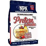 NPN Protein Pancake mix | Formula senza glutine | Tripla fonte proteica | Agitare e cuocere 26 frittelle | 910 g di formula o