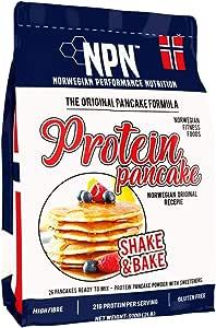 NPN Protein Pancake mix   Formula senza glutine   Tripla fonte proteica   Agitare e cuocere 26 frittelle   910 g di formula originale norvegese