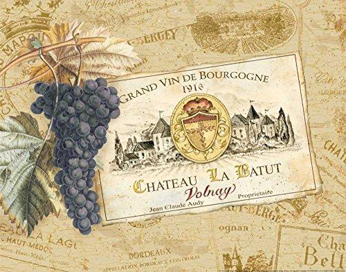 Tela-arrotolata.gladding-pamela-cm_25_x_34-chateau-la-batut-vino-etichetta-castello-francese-abbronzatura-rosso-uva-viola,-soggetto-cucina-per-arredo-parete-stampa-su-tela-fine-art,-canvas-arrotolato