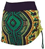 Guru-Shop Minirock, Dashiki Yogarock, Damen, Petrol, Synthetisch, Size:36, Kurze Röcke Alternative Bekleidung