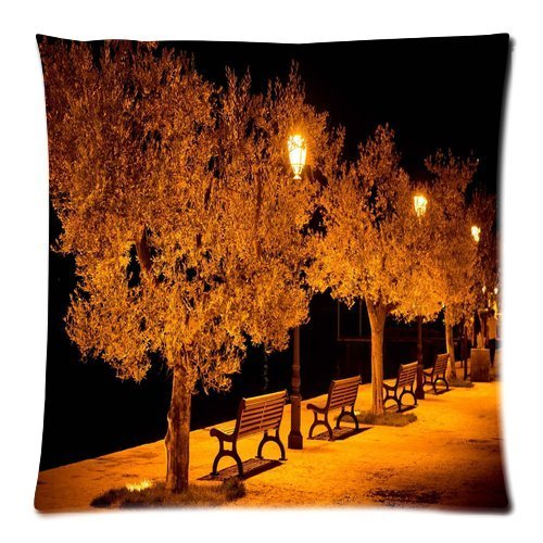 Preisvergleich Produktbild Custom Pillowcase DIY Fashion classic POP City street benches lights park evening Pillowcases Pillowslips Roomy in Size 20