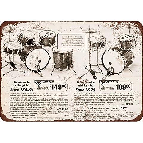 1972giapponese tamburo set stile vintage Riproduzione in metallo Tin Sign