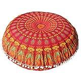OYSOHE Bohemian Meditation Kissenbezug Große Mandala Boden Kissen Runde Ottoman Hocker Bezüge,80 * 80cm
