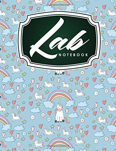 Lab Notebook: Chemistry Laboratory Notebook, Lab Notebook Ruled, Lab Notebook Graph, Student Lab Notebook, Cute Unicorns Cover