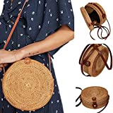 Best Disney Designer Diaper Bags - Beach Bag Bohemian Rattan Handmade Round Crossbody Bag Review