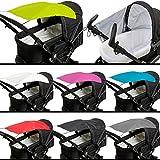 Sonnensegel (UV-Schutz 50+) für Buggy/Kinderwagen (Oxford Polyester) (Dunkelblau)