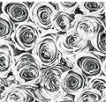 Klebefolie - Möbelfolie Rosen grau weiss Selbstklebefolie 45 cm x 200 cm
