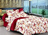 Ahmedabad Cotton Comfort 160 TC Cotton Double Bedsheet with 2 Pillow Covers - Maroon