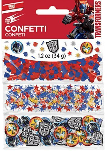 ormers Birthday Party Confetti Decoration, 1.2 oz, Red/Blue/Yellow ()