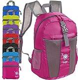 Packable Zaino - Leggero pieghevole Zaino - Usa come borsa da viaggio, Daypack - si ripiega in E 'tasca interna Rosa