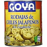 Goya Chiles Jalapeños en Rodajas para Nachos - 3 Paquetes de 2830 gr - Total: