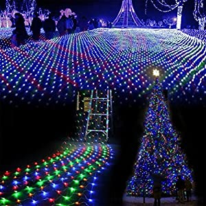 Bellabrunnen Window Curtain Icicle String Lights of 122 LED for Christmas Xmas Wedding Party Home Decoration Fairy Window Lights 1.5m*1.5m(White) [Energy Class A+] from Bellabrunnen