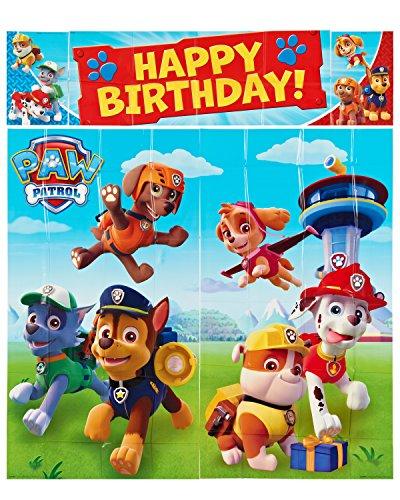 Paw Patrol - Set de cumpleaños: guirnalda para fiestas (Amscan International 670422)