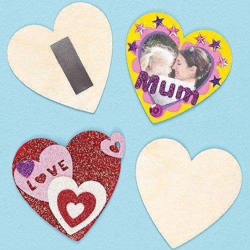 erz - zum Gestalten und Basteln für Kinder zum Valentinstag und Muttertag (10 Stück) ()