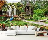 WH-PORP Fertigen Sie jede Größe 3D Tapete Mural Foto Zurück Garten Landschaft Wasserfall Landschaft Hintergrund-400cmX280cm