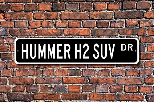 Gm 4-rad (Aersing Hummer H2SUV GM Hummer H2SUV Geschenk Hummer H2SUV Schild groß SUV 4Rad Home Dekoration Wandschild Metall alunimum 45x 10cm)