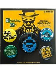 Pack De Badges / Pins Breaking Bad Flask