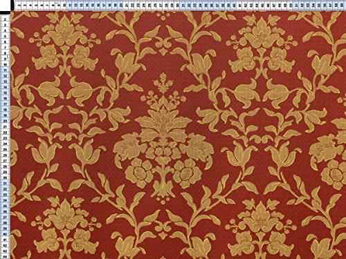 Tessuto da tappezzeria, rivestimento in tessuto, tessuto da tappezzeria, tessuto, tessuto della tenda, tessuto - Fiorella, Oriente rosso - bella jacquard con motivi floreali di