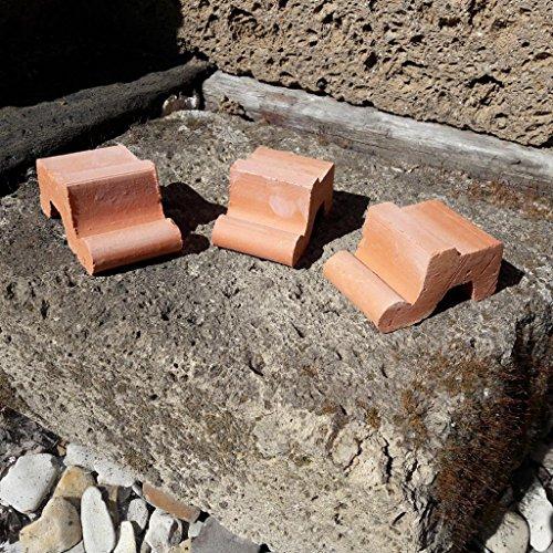 Kunert-Keramik Kübelfüsse,Untersetzer,Terracotta,9er Set,sehr stabil