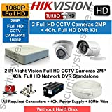 #10: Hikvision Full HD 2 CCTV Cameras (2MP) with Full HD 4Ch. DVR Kit