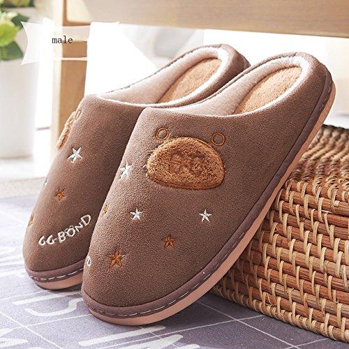 Pantofole coppie Pantofole calde interne in cotone invernale Pacchetto domestico con pantofole Pantofole più spesse 6 colori disponibili Taglia opzionale ( Colore : C , dimensioni : 36/37(35/36) ) F.
