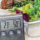 Prochef Digital Grillthermometer mit Hitze und Zeit Alarm. 110% Geld-zurück-Garantie
