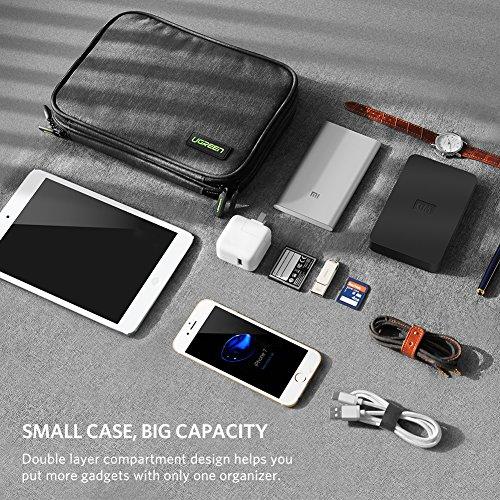 UGREEN Sac des Accessoires Électroniques Rangement Informatique de Voyage  pour iPad Mini 4, Nintendo Switch, GoPro Hero 6, Câble USB, Clé USB, Carte  SD TF, ... 016df0f134f7
