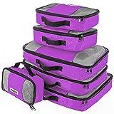 Savisto Custodie per Imballaggio, il Migliore Organizzatore Valigia 6 Pezzi, Custodie nei Bagagli, Ideale per il Bagaglio delle Vacanze, il Viaggio in Aereo & l'Immagazzinaggio Domestico - Viola
