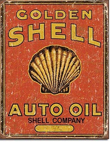 Desperate Enterprises Shell Auto Oil Antik Style Blechschild Flach Neu 31x40cm S3965 -