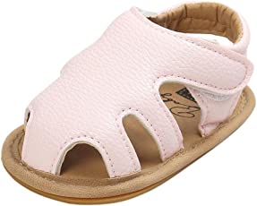 Voberry Voberry Unisex-Baby Boy Sandals Summer Casual Shoes Toddler Leather Soft Sole Sneakers