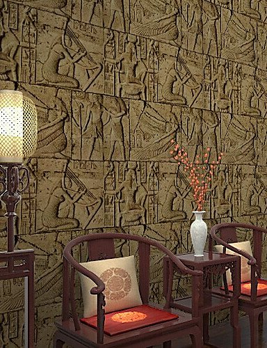 Art-deco-vinyl (fototapeten klassischen Art-Deco-Tapete Relief Tapete Wandverkleidung PVC / Vinyl-Wandkunst)