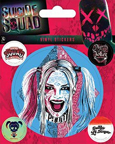 ey Quinn - Stickerset Set mit 5 Sticker Aufkleber 10x12,5 cm (Harley Quinn Aufkleber)