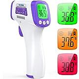 IDOIT Termometro frontale infrarossi 2 in 1 Termometro professionale a distanza 5-8CM Termometro digitale febbre Beeper…