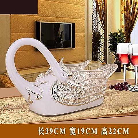 KHSKX swan mouchoirs, résine, salon du luxe européen de serviettes, carton, american boîte,un